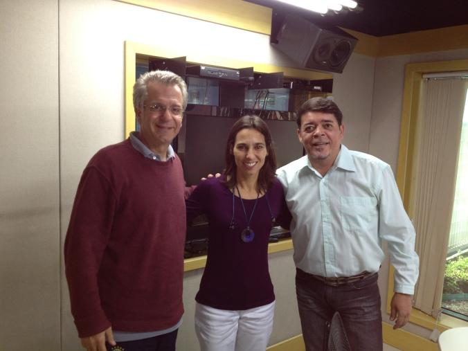 Andrea Matarazzo, Marina Vasconcellos e Luiz Ribeiro na Rádio Capital